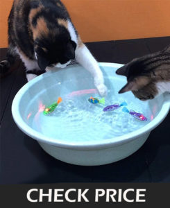 swimming fish robot for cats play cool cat toys